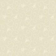 Bomullstyg beige blomslinga (Makower)