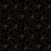 Bomullstyg svart-brunt (Makower)