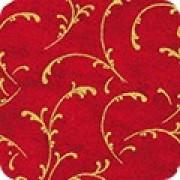 Bomullstyg Rött-Guld