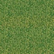 Bomullstyg grönt-guld (Classic Foliage)