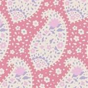 Bomullstyg Tilda Teardrop rosa