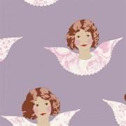 Bomullstyg Scrappy Angel lila