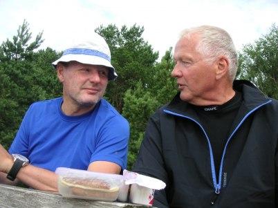 Två golfare som har kommit rätt!