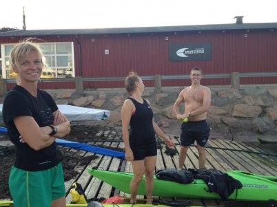 Efter paddling och en skarp räddningsövning. Bra jobbat  Anneli och Per-Filip