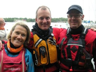 Vi var tre paddlare från BBKS: Maria, Erik och Lars.