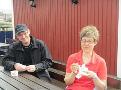 Regnet upphörde, vi torkade och avslutade en fantastisk dag med en Bjäreglass.