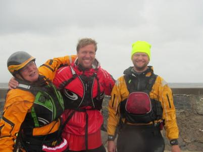 Anders, Per Söderberg (Go Nature) och Andreas Alvehus, vår duktiga instruktör!