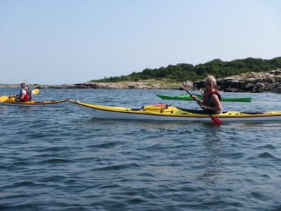 Vid Saltpannan delade vi upp oss. Malin, Maria D och Ulf hade mer spring i armarna och ville paddla hem till Båstad. Ulrica, Maria T och Tina gick direkt mot Torekov.
