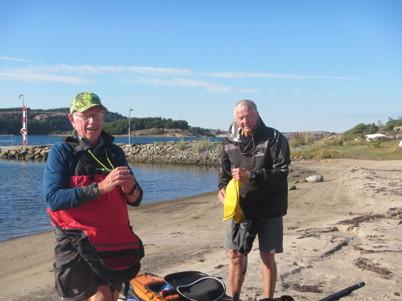 Börje, Anders och Maria D anlände redan på torsdagseftermiddag och tog en sväng på Fjällbackafjorden.