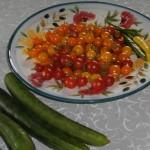 Plockat tomater, gurka o chili idag. Underbart är kort.... Birgitta Lidström