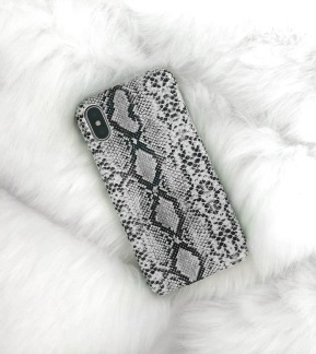 Iphone Case Snakeprint Grey