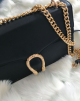 GOLDEN SNAKE BAG - BLACK