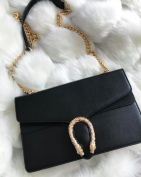 GOLDEN SNAKE BAG - BLACK