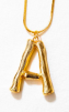 LETTER NECKLACE GOLD - A