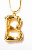 LETTER NECKLACE GOLD - B