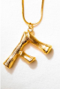 LETTER NECKLACE GOLD - F