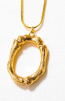 LETTER NECKLACE GOLD - O