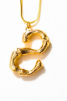 LETTER NECKLACE GOLD - S