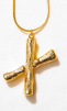 LETTER NECKLACE GOLD - X