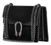 SUEDE SNAKE BAG - BLACK