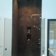 Betong dusch, microcement