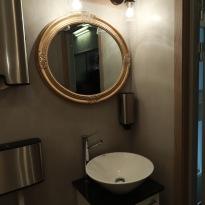 Betong toalett, microcement