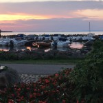 Småbåtshamnen solnedgång