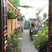 Innergård på Restaurang