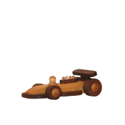 Racingbil i trä