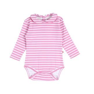 Body med krage rosa/vit - Body med krage rosa/vit 0-3 mån (56)