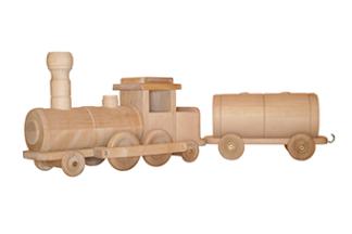 Tåglok med 3 vagnar