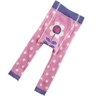 Stickade Leggings Blomma - Stickade tajts Blomma 74-80 cm
