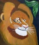 Lejon. Akryl på duk.
