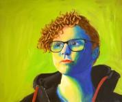 Självporträtt, Akryl.