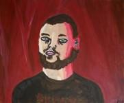 Självporträtt. Akryl.