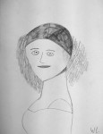 Porträtt av Jenny Lind. Blyerts.