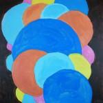 Abstrakt måleri. Akryl.
