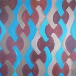 Abstrakt målning. Akryl.