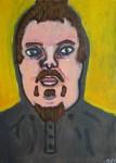 Självporträtt. Akryl på duk.