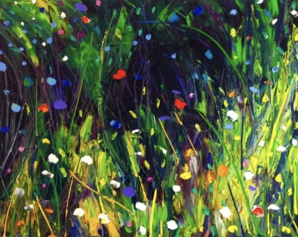 """The face of green"", oil on canvas - målning av Anna Afzelius-Alm"