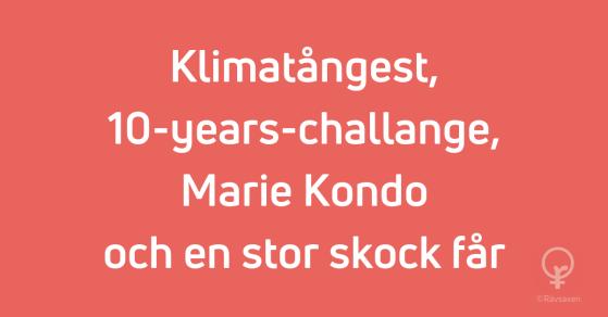 Rävsaxen blogginlägg: Klimatångest, 10-years-challange, Marie Kondo och en stor skock får