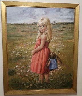 Flicka med docka på Ölands alvar (Inga Bursell) - Flicka med docka på Ölands Alvar