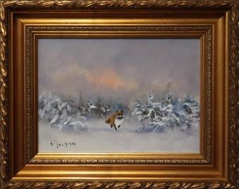 Räv i vinterlandskap (Väinö Juntara) -
