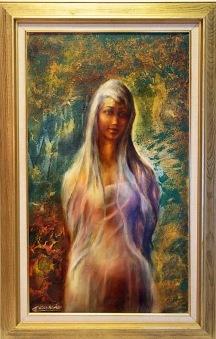 Flicka i skogen (Enriqe Cabrolier) -