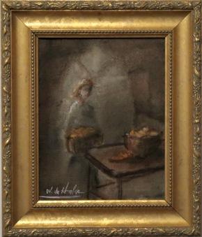 Kvinna i köket (Valter Du Halde) -