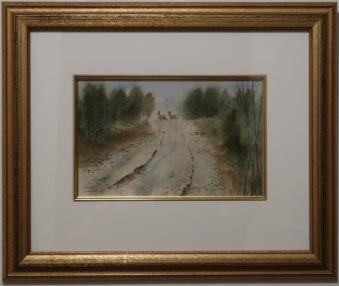 Rådjur över väg (Kenneth Lindgren) - Rådjur över väg