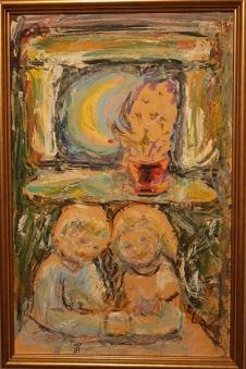 Barn vid ett fönster (Hans Ångsäter) -