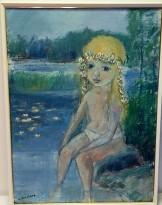 Flicka vid vattnet (Alf Forslund)