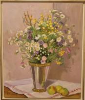 Blomsterbukett i silverbägare (Karl-Johan Magnusson)