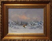 Räv i vinterlandskap (Väinö Juntara)
